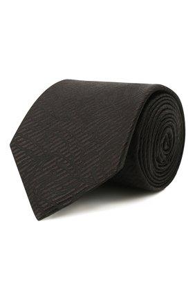 Мужской шелковый галстук ETON черного цвета, арт. A000 32937 | Фото 1