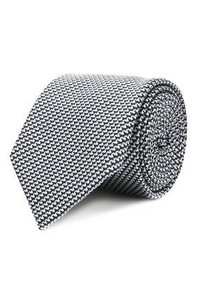 Мужской галстук из шелка и хлопка ETON синего цвета, арт. A000 32980   Фото 1