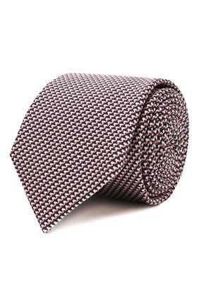Мужской галстук из шелка и хлопка ETON розового цвета, арт. A000 32980 | Фото 1
