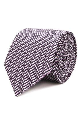 Мужской галстук из шелка и хлопка ETON сиреневого цвета, арт. A000 32980 | Фото 1