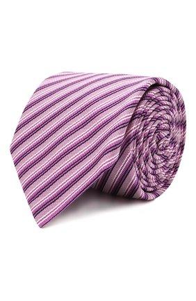Мужской галстук из шелка и хлопка ETON сиреневого цвета, арт. A000 32981 | Фото 1