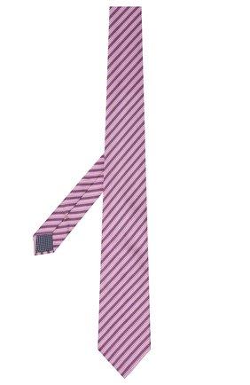 Мужской галстук из шелка и хлопка ETON сиреневого цвета, арт. A000 32981 | Фото 2