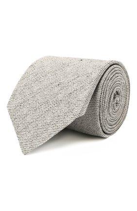 Мужской галстук из шелка и льна ETON серого цвета, арт. A000 32986   Фото 1 (Материал: Лен, Шелк, Текстиль; Принт: Без принта)