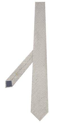 Мужской галстук из шелка и льна ETON серого цвета, арт. A000 32986   Фото 2 (Материал: Лен, Шелк, Текстиль; Принт: Без принта)