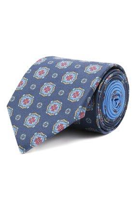 Мужской хлопковый галстук ETON синего цвета, арт. A000 32997   Фото 1