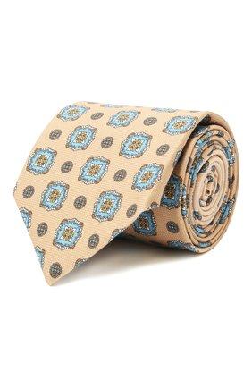 Мужской хлопковый галстук ETON бежевого цвета, арт. A000 32997 | Фото 1
