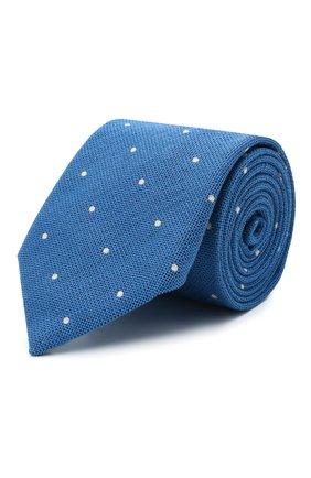 Мужской галстук из шелка и хлопка ETON синего цвета, арт. A000 33001   Фото 1