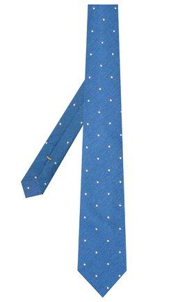 Мужской галстук из шелка и хлопка ETON синего цвета, арт. A000 33001   Фото 2