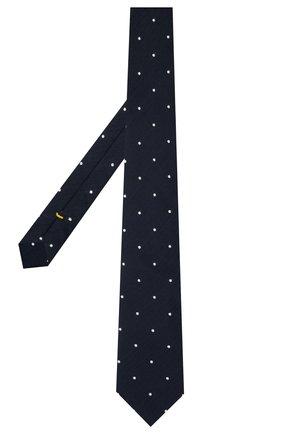 Мужской галстук из шелка и хлопка ETON темно-синего цвета, арт. A000 33001   Фото 2