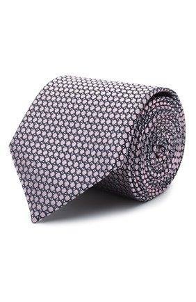 Мужской шелковый галстук CANALI светло-розового цвета, арт. 24/HJ03074 | Фото 1
