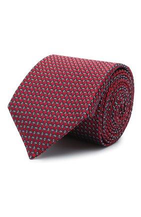 Мужской шелковый галстук CANALI красного цвета, арт. 24/HJ03074 | Фото 1