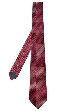 Мужской шелковый галстук CANALI красного цвета, арт. 24/HJ03074 | Фото 2