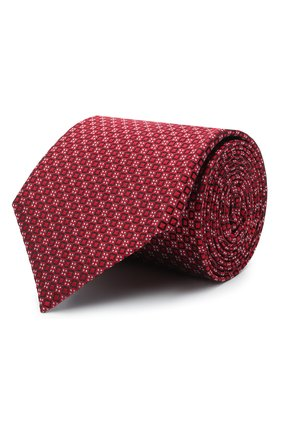 Мужской шелковый галстук CANALI красного цвета, арт. 70/HJ03077 | Фото 1