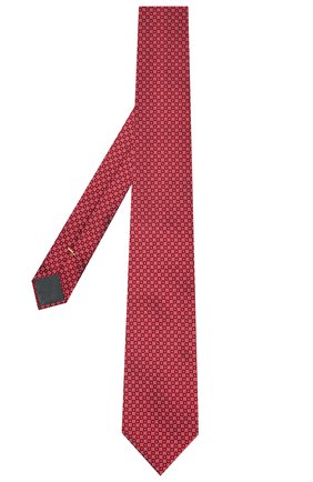 Мужской шелковый галстук CANALI красного цвета, арт. 70/HJ03077 | Фото 2