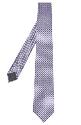 Мужской шелковый галстук CANALI сиреневого цвета, арт. 70/HJ03077 | Фото 2