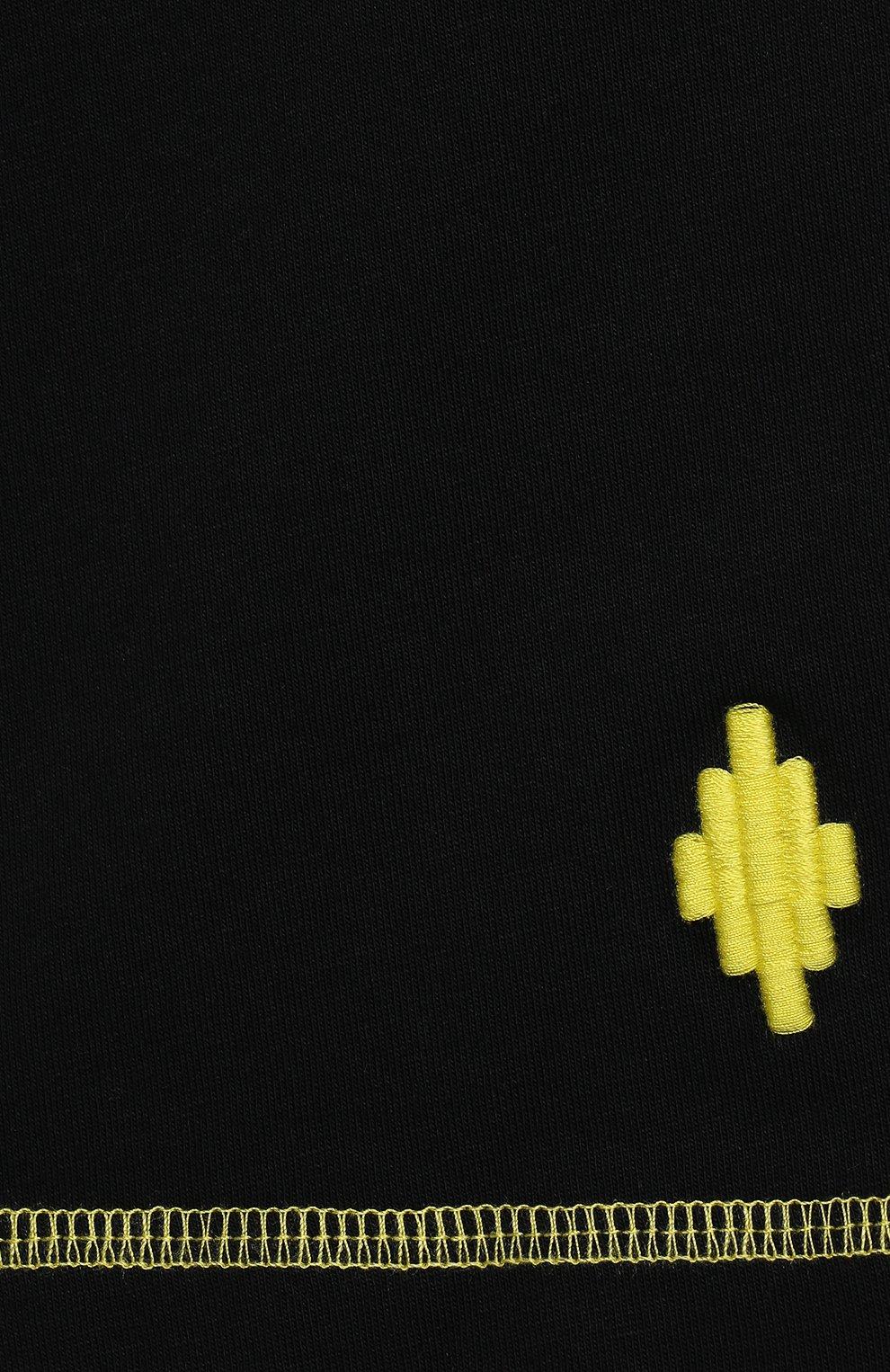 Детские хлопковые шорты MARCELO BURLON KIDS OF MILAN черного цвета, арт. 21E/B/MB/3252/0010/2-6Y | Фото 3 (Мальчики Кросс-КТ: Шорты-спорт; Материал внешний: Хлопок)