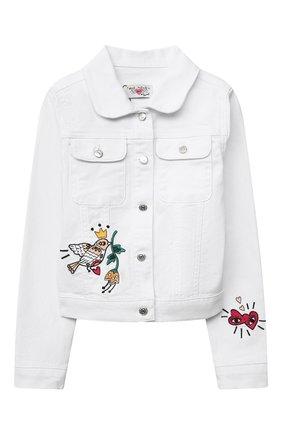 Детская джинсовая куртка SONIA RYKIEL ENFANT белого цвета, арт. 21S10U07   Фото 1
