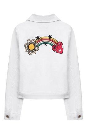 Детская джинсовая куртка SONIA RYKIEL ENFANT белого цвета, арт. 21S10U07   Фото 2