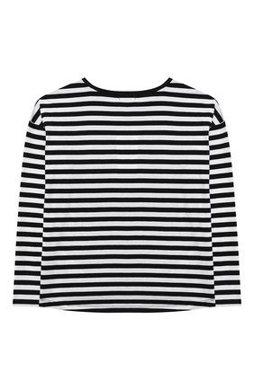 Детская хлопковый лонгслив SONIA RYKIEL ENFANT черно-белого цвета, арт. 21S1TS30 | Фото 2