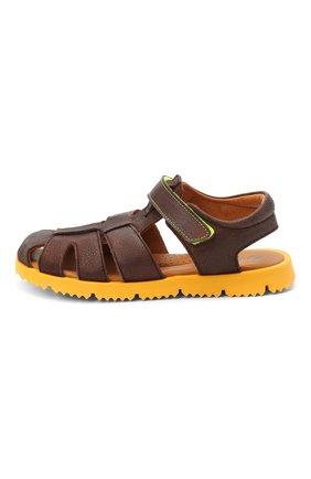 Детские кожаные сандалии RONDINELLA коричневого цвета, арт. 0824-1/4537/34-36   Фото 2