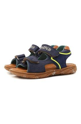 Детские кожаные сандалии RONDINELLA синего цвета, арт. 0917-1/5053/24-27   Фото 1