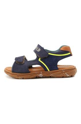 Детские кожаные сандалии RONDINELLA синего цвета, арт. 0917-1/5053/24-27   Фото 2