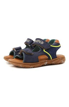Детские кожаные сандалии RONDINELLA синего цвета, арт. 0917-1/5053/28-30   Фото 1
