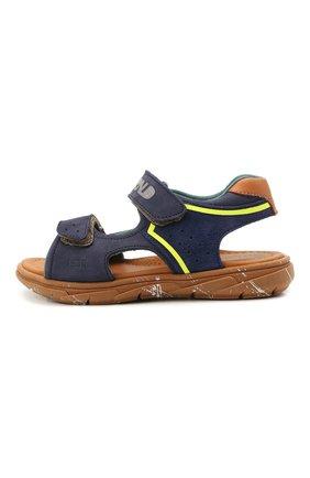 Детские кожаные сандалии RONDINELLA синего цвета, арт. 0917-1/5053/28-30   Фото 2