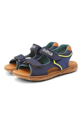Детские кожаные сандалии RONDINELLA синего цвета, арт. 0917-1/5053/31-33   Фото 1