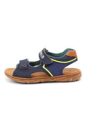 Детские кожаные сандалии RONDINELLA синего цвета, арт. 0917-1/5053/31-33   Фото 2