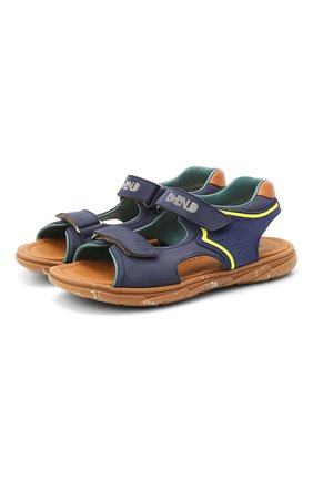 Детские кожаные сандалии RONDINELLA синего цвета, арт. 0917-1/5053/34-36 | Фото 1