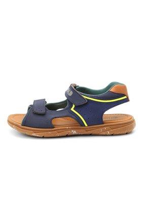Детские кожаные сандалии RONDINELLA синего цвета, арт. 0917-1/5053/34-36 | Фото 2