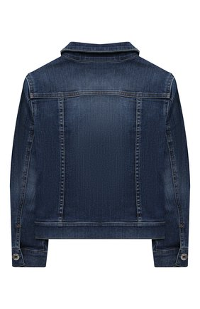 Детская джинсовая куртка DOLCE & GABBANA темно-синего цвета, арт. L51B55/LD954/2-6 | Фото 2 (Материал внешний: Хлопок; Рукава: Длинные; Кросс-КТ: Деним; Ростовка одежда: 2 года | 92 см, 3 года | 98 см, 4 года | 104 см, 5 лет | 110 см, 6 лет | 116 см)