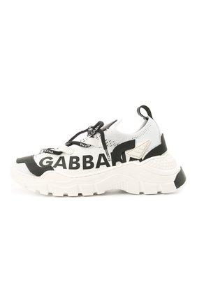 Детские кроссовки DOLCE & GABBANA черно-белого цвета, арт. DA0978/A0262/29-36   Фото 2