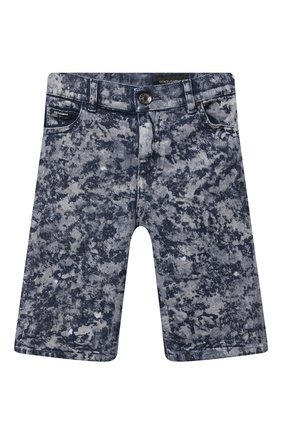Детские джинсовые шорты DOLCE & GABBANA темно-синего цвета, арт. L42Q37/LD961/2-6 | Фото 1