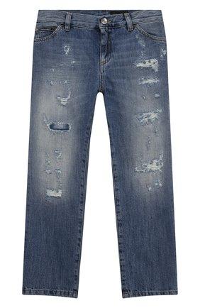Детские джинсы DOLCE & GABBANA голубого цвета, арт. L42F34/LD958/8-14 | Фото 1