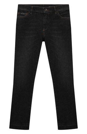 Детские джинсы DOLCE & GABBANA серого цвета, арт. L41F95/LD957/8-14 | Фото 1