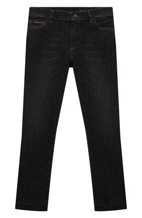 Детские джинсы DOLCE & GABBANA серого цвета, арт. L41F95/LD957/2-6 | Фото 1