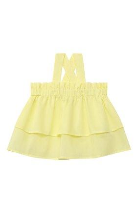 Детский хлопковый топ IL GUFO желтого цвета, арт. P21CA011C0003/2A-4A | Фото 1