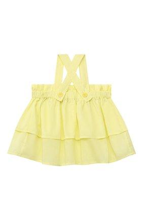 Детский хлопковый топ IL GUFO желтого цвета, арт. P21CA011C0003/2A-4A | Фото 2