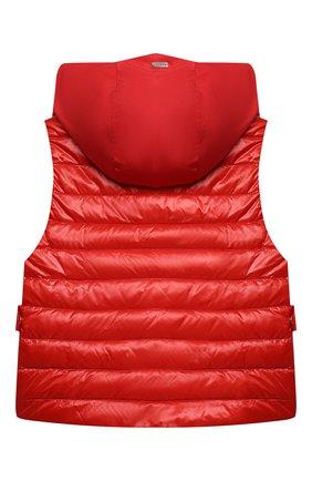 Детский пуховый жилет HERNO красного цвета, арт. PI0110G/12017/4A-8A   Фото 2