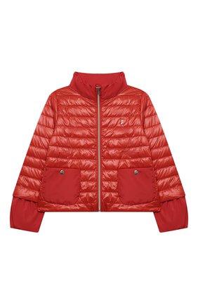 Детского пуховая куртка HERNO красного цвета, арт. PI0109G/12017/4A-8A   Фото 1