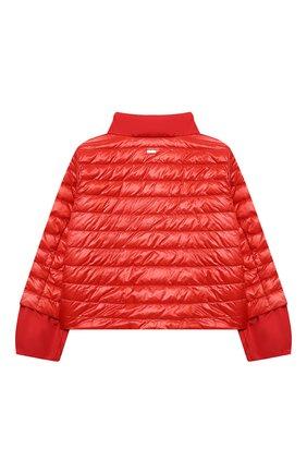 Детского пуховая куртка HERNO красного цвета, арт. PI0109G/12017/4A-8A   Фото 2