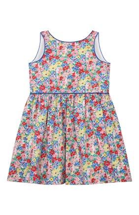 Детское хлопковое платье POLO RALPH LAUREN разноцветного цвета, арт. 311835225 | Фото 1
