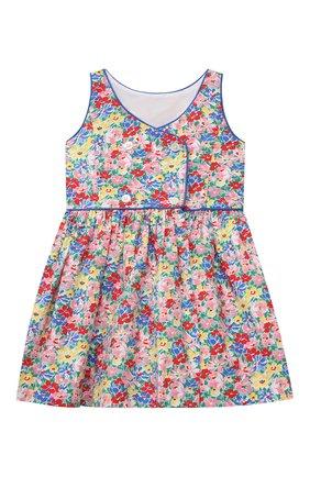 Детское хлопковое платье POLO RALPH LAUREN разноцветного цвета, арт. 311835225 | Фото 2