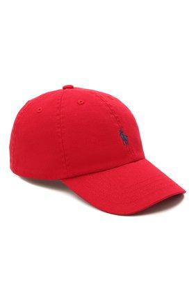 Детская хлопковая бейсболка POLO RALPH LAUREN красного цвета, арт. 321552489 | Фото 1