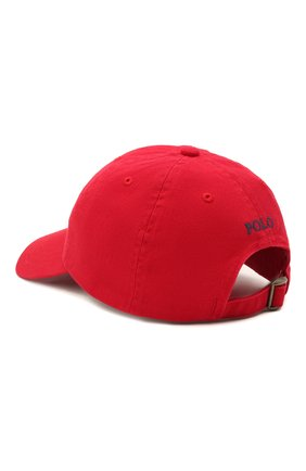 Детская хлопковая бейсболка POLO RALPH LAUREN красного цвета, арт. 321552489 | Фото 2