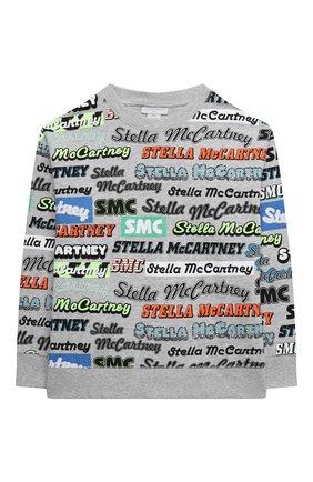 Детского комплект из свитшота и шорт STELLA MCCARTNEY серого цвета, арт. 602859/SQJ01 | Фото 2