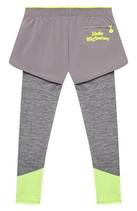 Детские леггинсы с шортами STELLA MCCARTNEY серого цвета, арт. 602611/SQK53 | Фото 2
