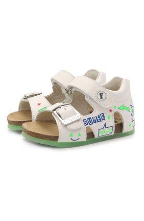 Детские кожаные сандалии FALCOTTO белого цвета, арт. 0011500881/01 | Фото 1